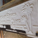 After being sandblasted and in the process of being painted.